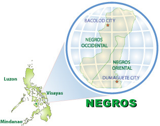 HOTELS Beaches And Beach Resorts IN Bacolod CITY PHILIPPINES - Bacolod map