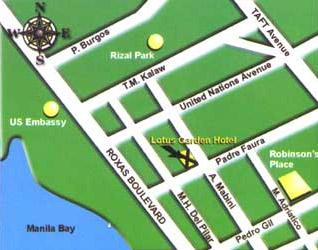 Lotus Garden Hotel Manila Map